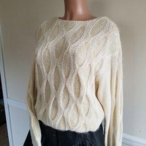 Vintage Honeycomb Knit Sweater